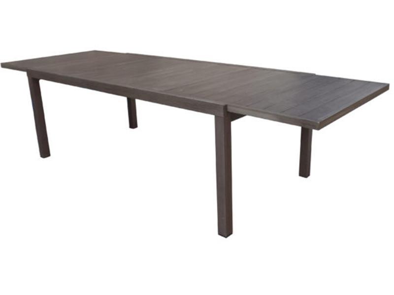 Marron Extensible Aluminium Table De Coloris Dim200 Jardin En fvmI7gyY6b