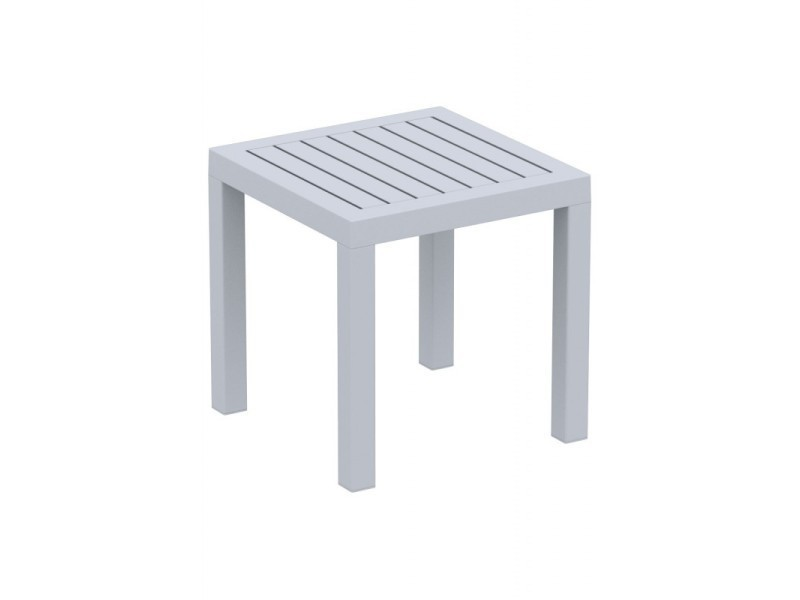 Petite table de jardin en plastique gris résistante aux ...