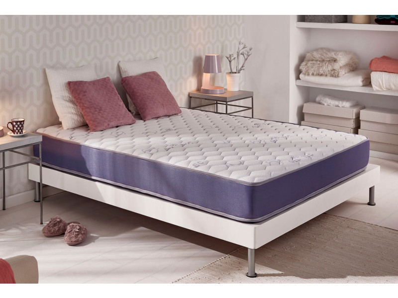 matelas m moire geltec 160x200 cm aux cellules gel fresh mousse de support blue latex 19. Black Bedroom Furniture Sets. Home Design Ideas