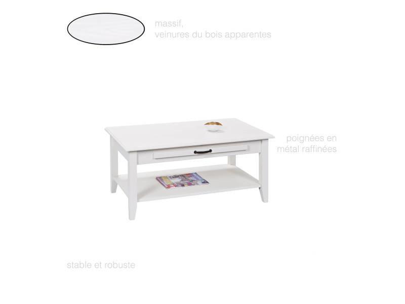 Table Basse Salon Salle A Manger Rectangulaire Tiroir
