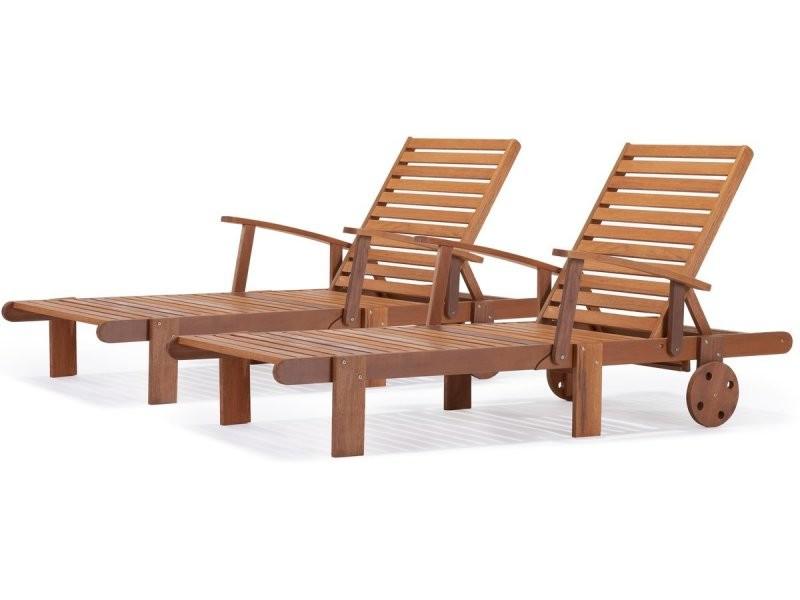 Bain de soleil pliant en bois exotique \