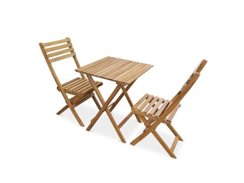 Salon De Jardin En Bois Bistrot Pliable Figueres Carre Table