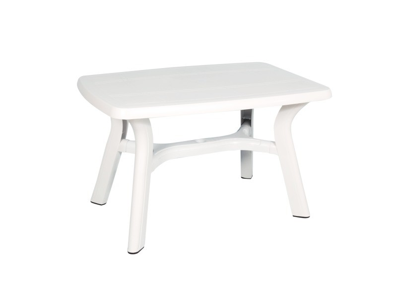Table rectangulaire de jardin 120x80 cm (blanc) - Vente de ...