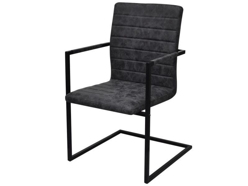 chaise cantilever noir
