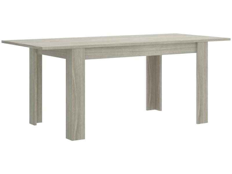 Table de repas extensible coloris gris - dim : 77 x 90 x 140-190 cm -pegane-