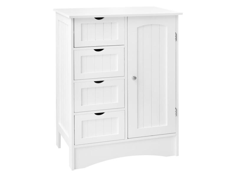 Ml-design armoire de salle de bain blanche, 55x81x30 cm, en panneau de particules mdf 490001574