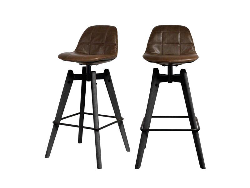 chaise de bar marron conforama