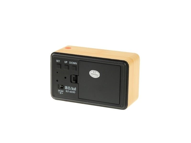 b4bba506a1 prevnext. Réveil digitale vert numéro usb / batterie horloge en bois avec  commande vocale alternativement afficher l