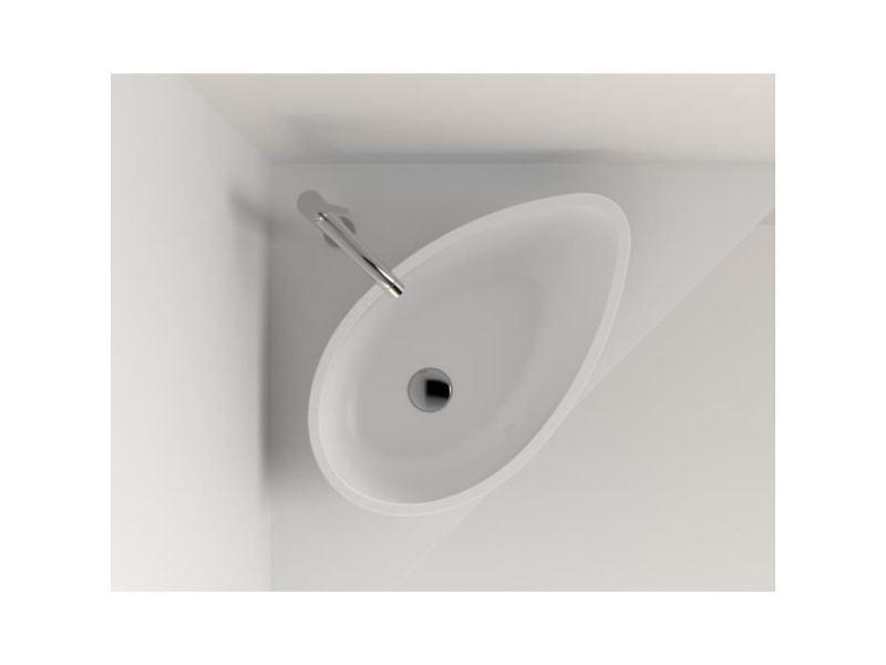 Lavabo Vasque Vasque A Poser Futura En Résine 60x35 Cm Blanc Mat