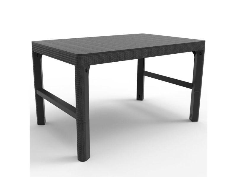 Allibert Table De Jardin Lyon Graphite 232300 420014 Vente De