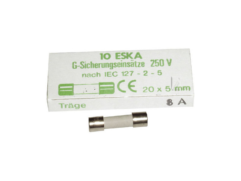 Fusible temporise 8 amperes 5x20 (x1) reference : ms-0295172