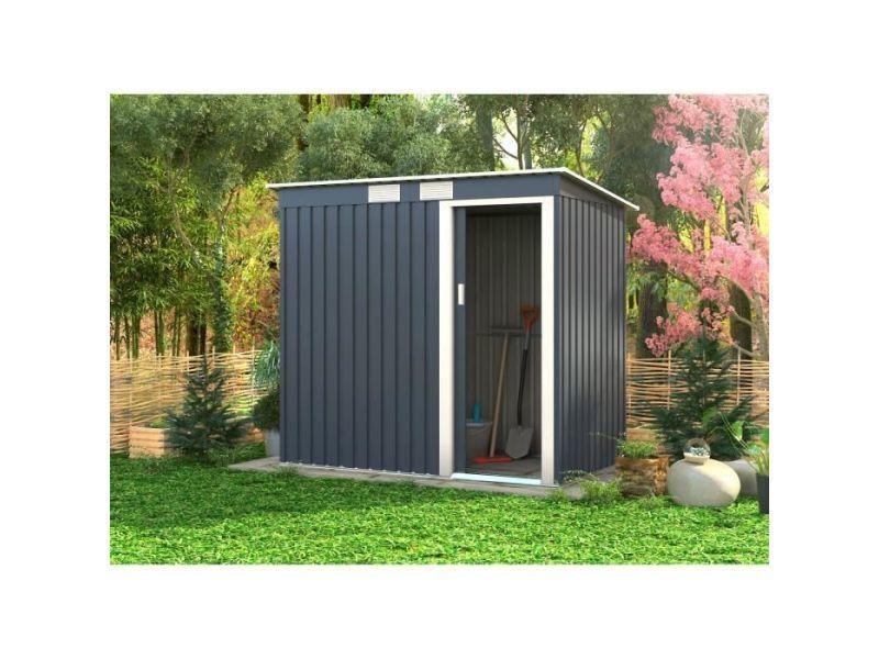 Abri de jardin - chalet abri de jardin en métal 2,43m² - 1 porte ...