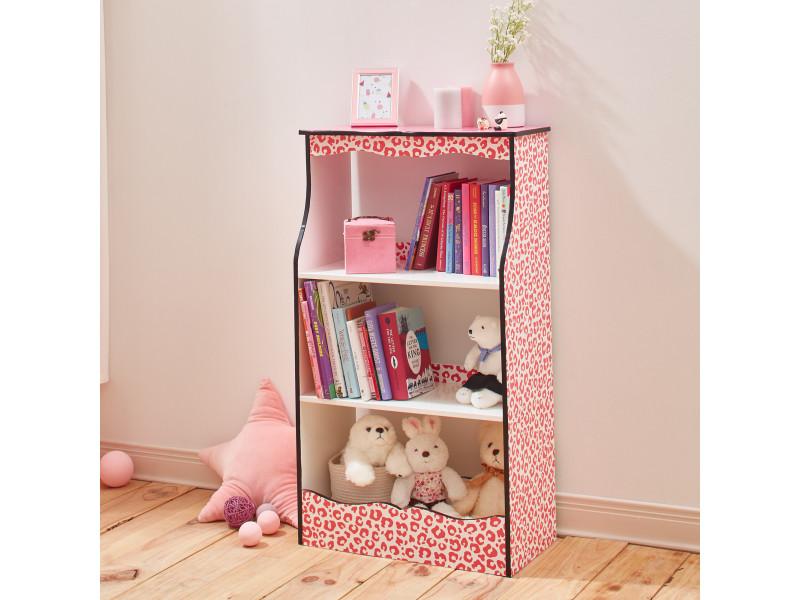 Meuble bibliothèque en bois enfant fille rangement livre jouet teamson kids td-12472p - Vente de ...