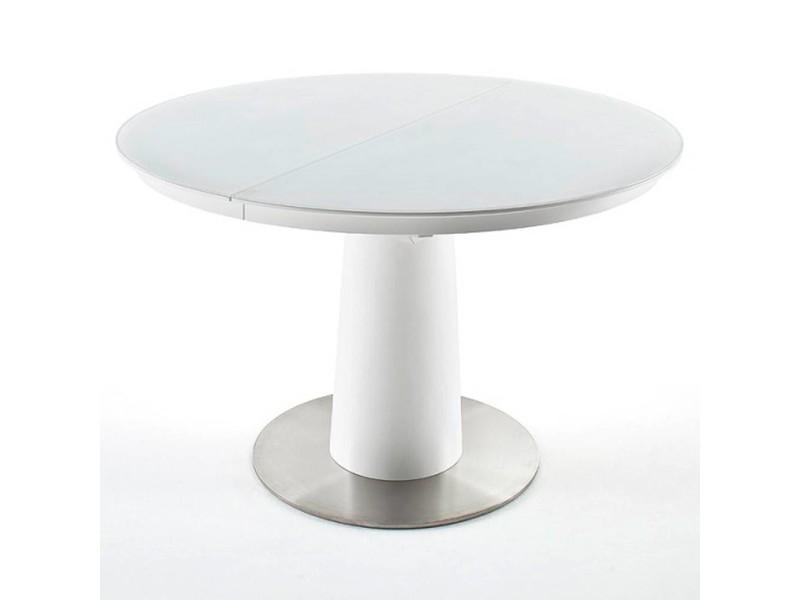 Table repas extensible design tulipe wiem 120cm blanche 20100872021