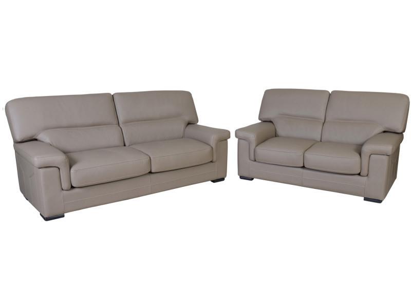 Salon cuir sienne 3 et 2 places vente de tous les fauteuils conforama - Salon conforama cuir ...