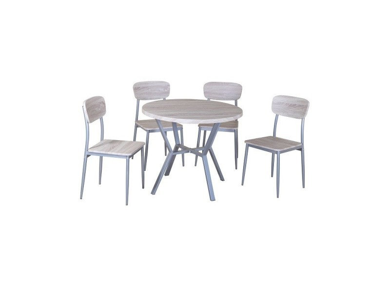 Ensemble Table Et 4 Chaises Collection Roubaix Set De