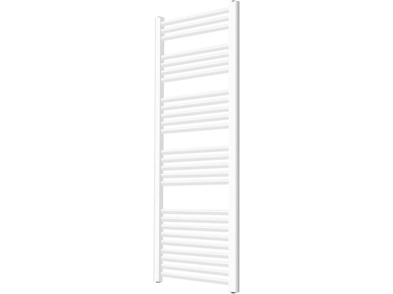 Radiateur sèche serviette pour salle de bain mural en acier inoxydable format vertical radiateur chauffe serviette 160 x 60 cm blanc helloshop26 01_00000046