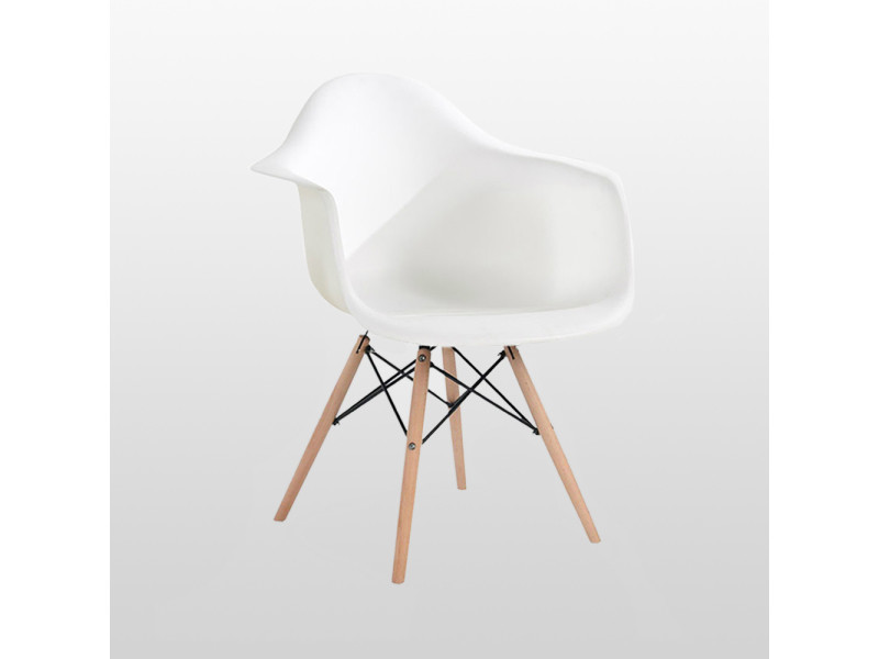 Chaise style scandinave blanche ajie