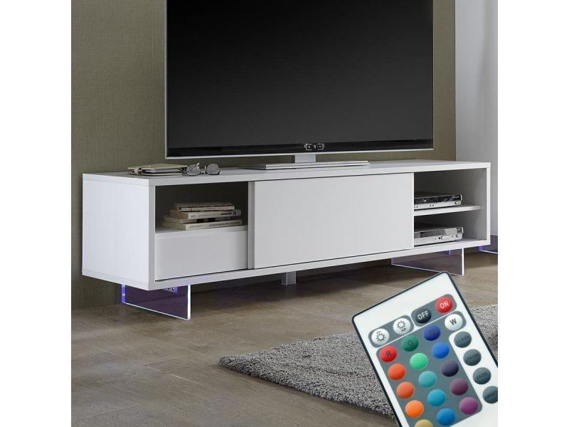 Blanc Meuble Lumineux Verlaine 2 Mat Sofamobili Tv De Laque Vente qzUMSGVp