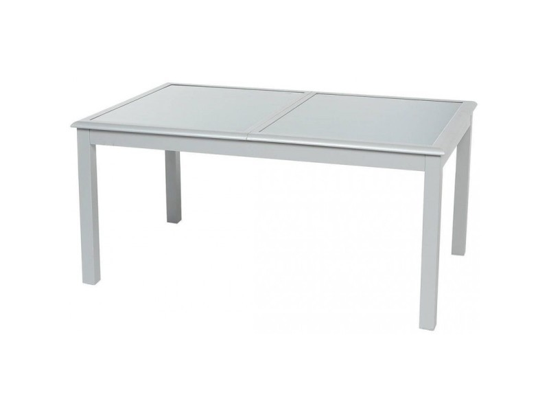 Table extensible rectangulaire azua verre 6/10 places gris ...