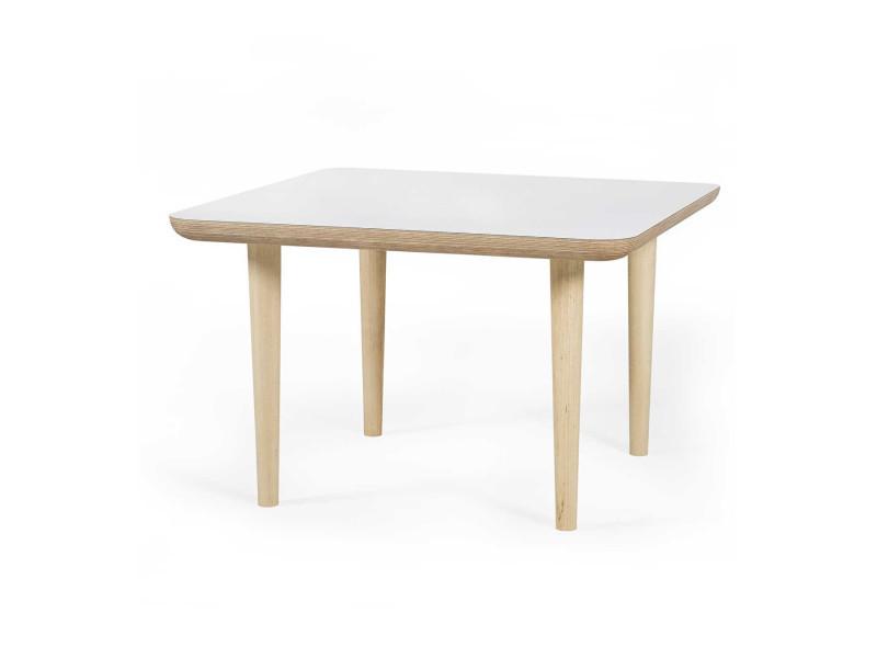 Table basse carrée sandinave alix / coloris : blanc