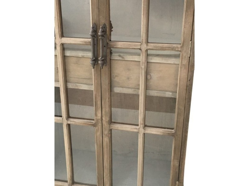 ac9a802080a3a Style ancienne grande bibliothèque armoire vitrée bahut buffet meuble bois  182 cm