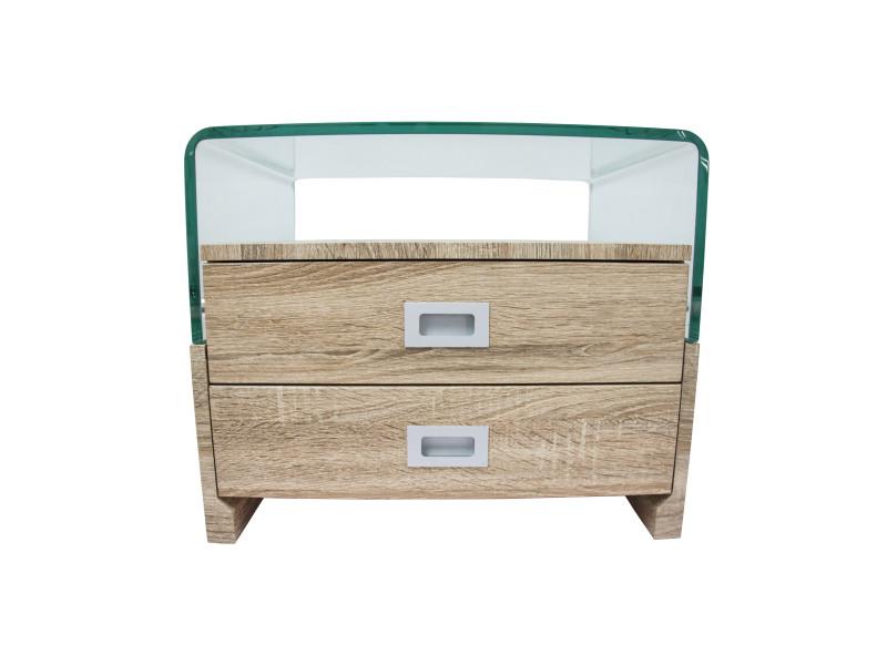 Laqué Avec Tiroirsclear S17 2 Wood De Chevet Table Design uFKJ3cl15T