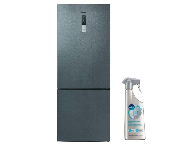 Refrigerateur frigo combiné inox 432l a++ froid ventilé no frost