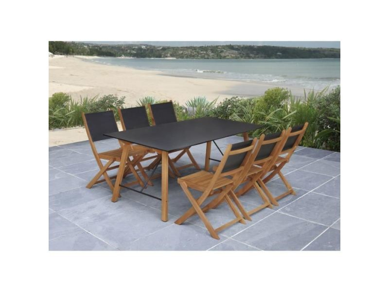 ensemble table chaise de jardin