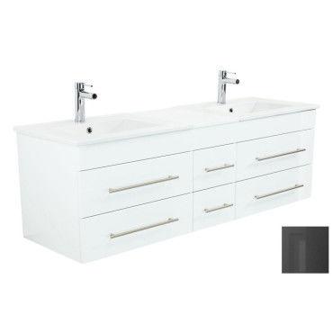 Meuble salle de bain double vasque milano xl 172cm - Meuble vasque salle de bain conforama ...