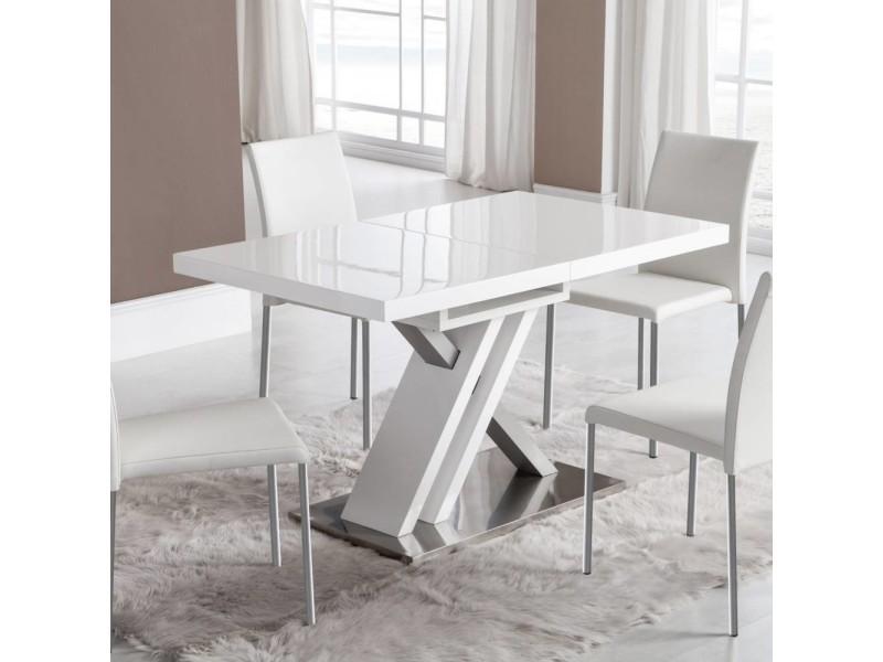 Table de repas extensible sone design blanche 130x80 20100864854