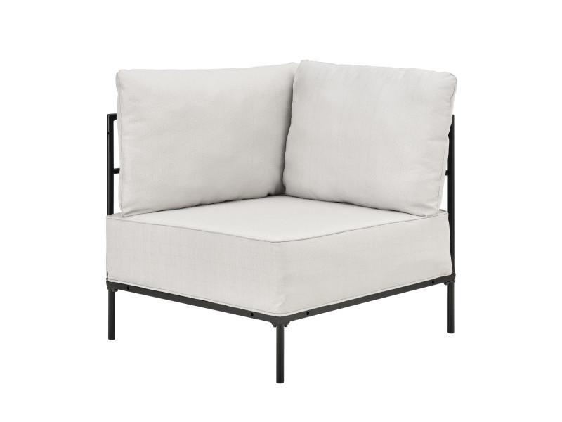 [en.casa] modules de canapés - fauteuil d'angle avec coussin - 100% polyester - sable fauteuil