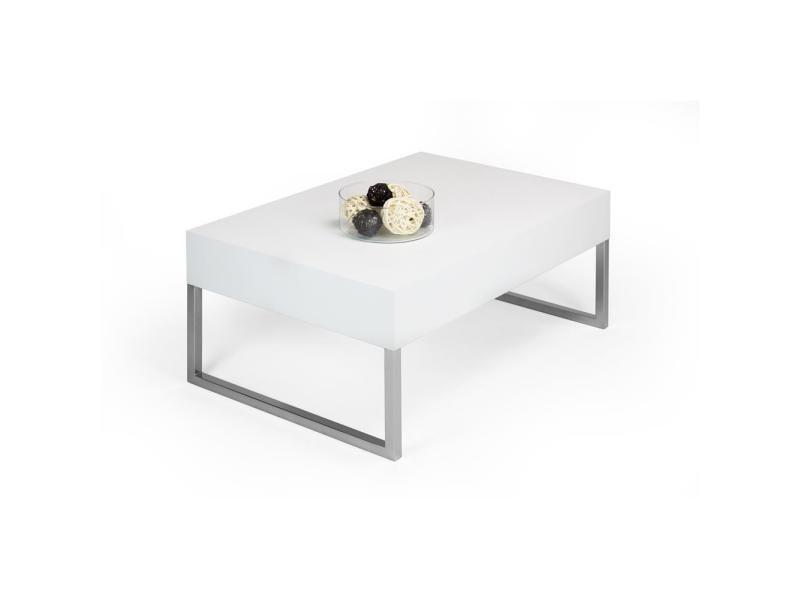 Mobili Fiver Table Basse Evo Xl Frene Blanc Made In