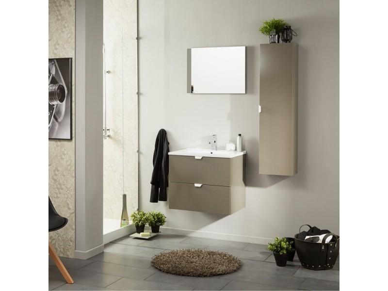 Colonne de salle de bain taupe brillant - uriel n°2 - l 30 ...