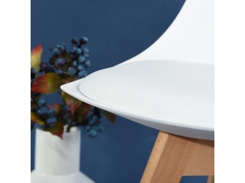 de chaises scandinaves prague de Vente blanches 6 Lot k0PnwO