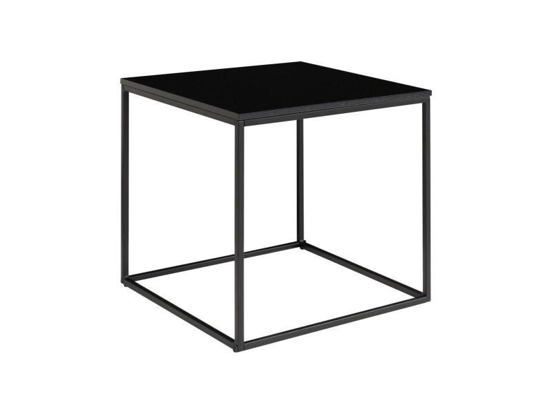 Table basse carrée 45x45cm en bois et métal nino 2101400