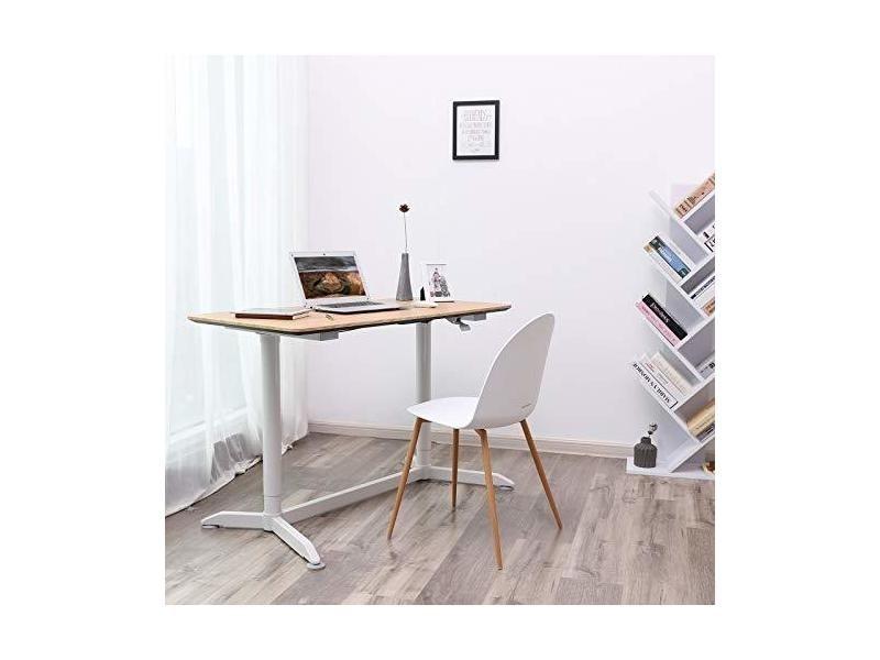 Songmics grande table bureau assis debout poste de travail avec