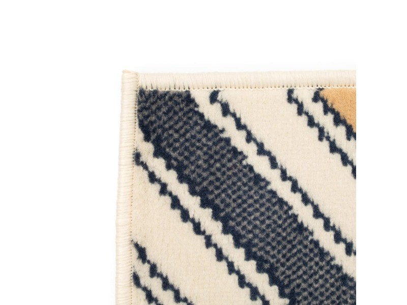 Vidaxl tapis moderne design de zigzag 80 x 150 cm marron/noir/bleu ...