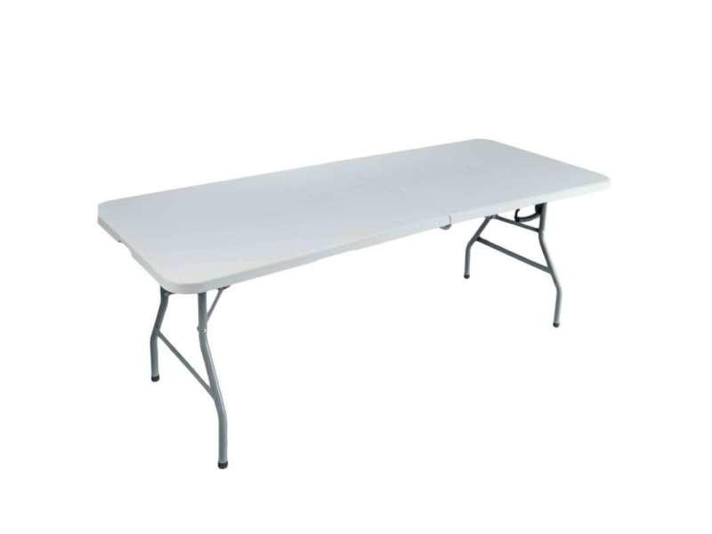 Table pliante rectangulaire 180 x 75 x 74 cm - Vente de Salon de ...