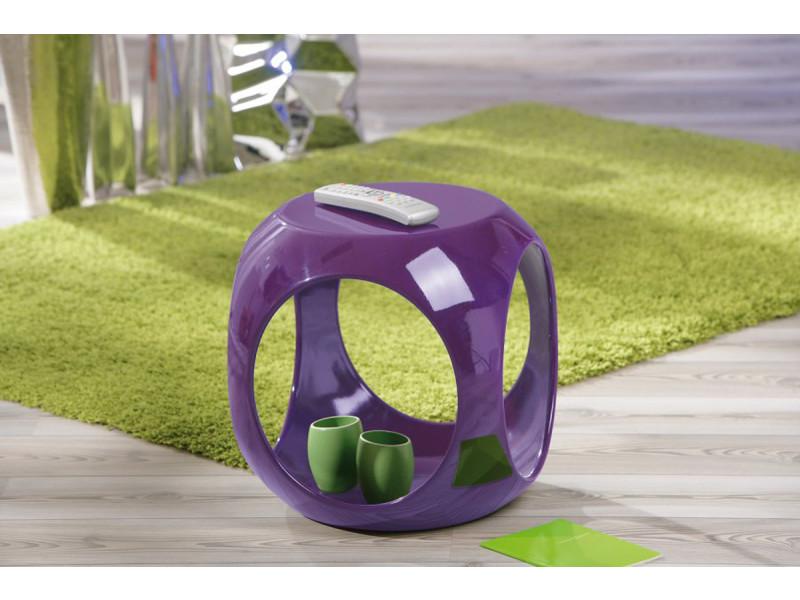 Table d'appoint en plastique coloris violet - l40 x h42 x p40 cm -pegane-