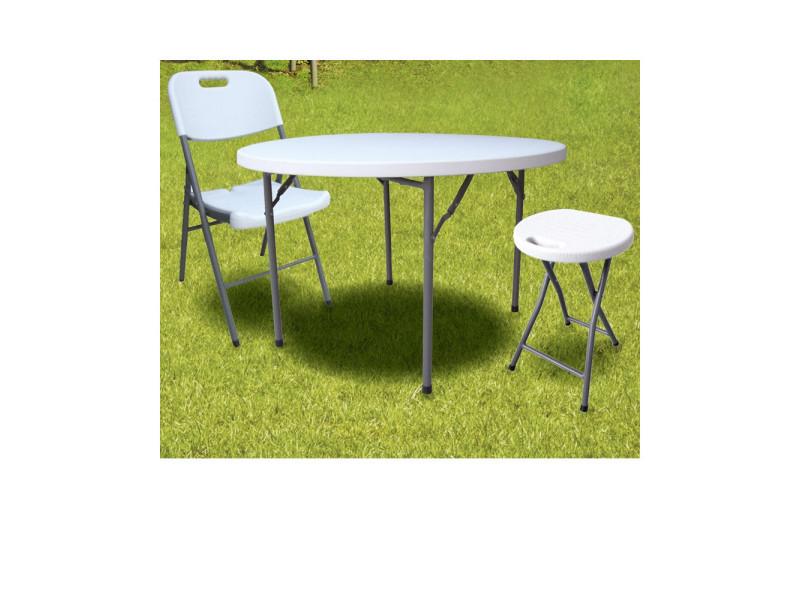 Chaise de jardin pliante en plastique blanc 88 cm vente - Chaise jardin pliante plastique ...