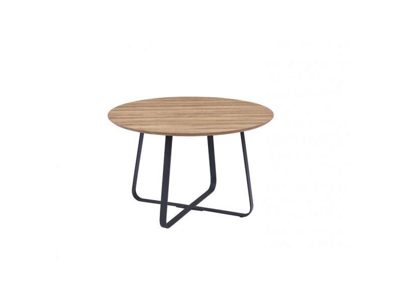 Table de salle à manger moderne coloris chêne nashville