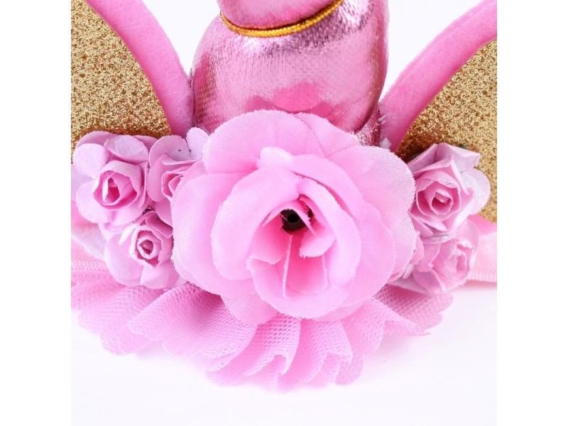 6f62eda072f34 prevnext. Bandeau rose enfants mode belle licorne fleur forme partie  décoratif cheveux hoop