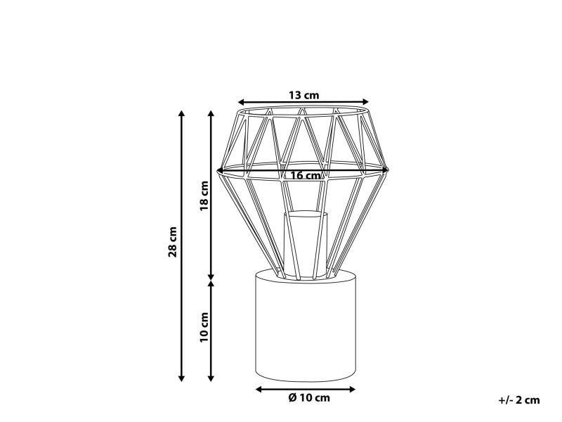 Petite lampe couleur laiton mooni 84822 Vente de BELIANI