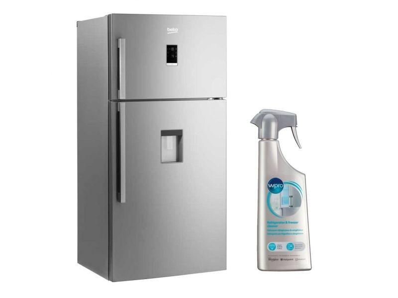 beko refrigerateur frigo double porte inox 556l a froid. Black Bedroom Furniture Sets. Home Design Ideas