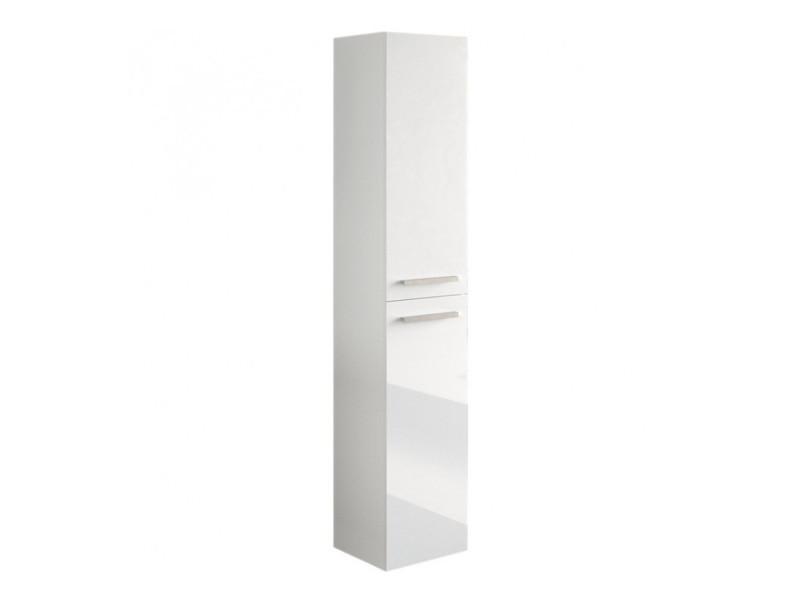Colonne salle de bain suspendue avec 2 portes coloris blanc ...