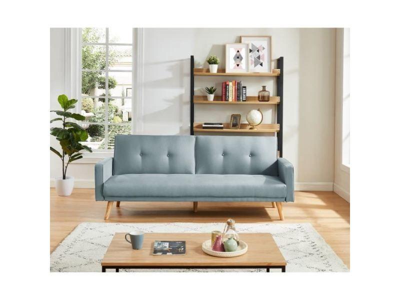 Canape - sofa - divan luxi canapé droit convertible 3 places - tissu ...