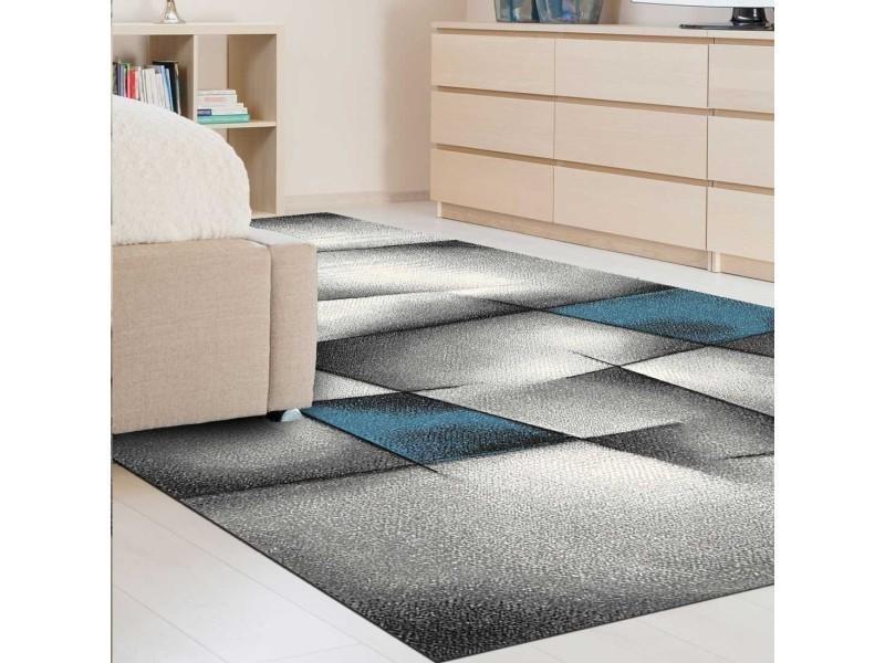 Tapis salon moderne de créateur parlak 3d bleu, gris, noir ...