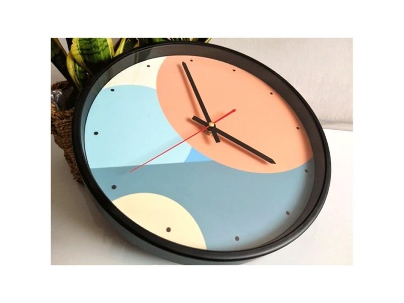 Horloge Murale 12 Pouce Home Office Chambre Decoratif En Metal Cadre