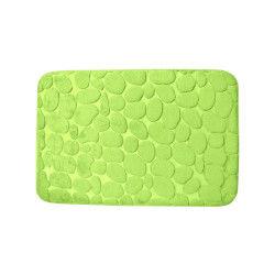tapis de salle de bain toucher soft cosy dcor galets 40 x 60cm vert - Tapis De Bain